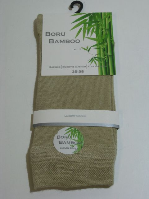 Dames sokken bamboe licht beige