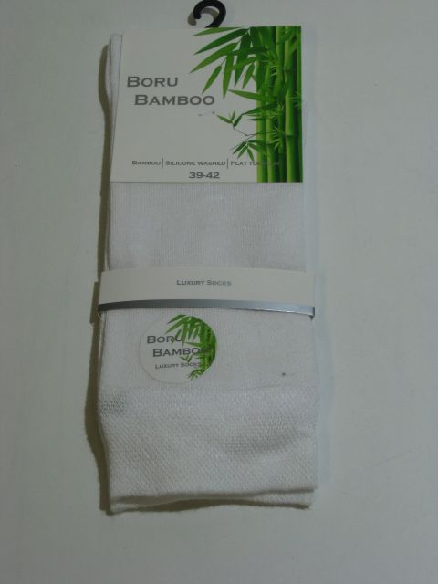 Bamboe sokken dames wit