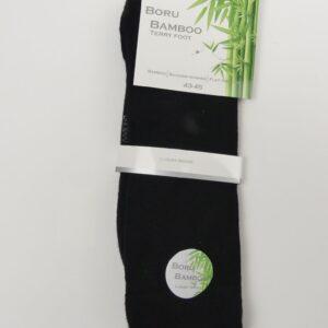 bamboe sokken heren badstof zwart