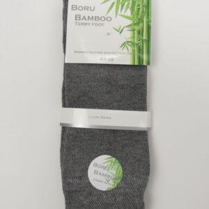 Bamboe sokken heren licht grijs
