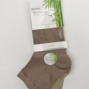 Bamboe sokken dames enkel halfhoge boord