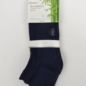 Bamboe sokken heren halfhoog badstof 2-pak