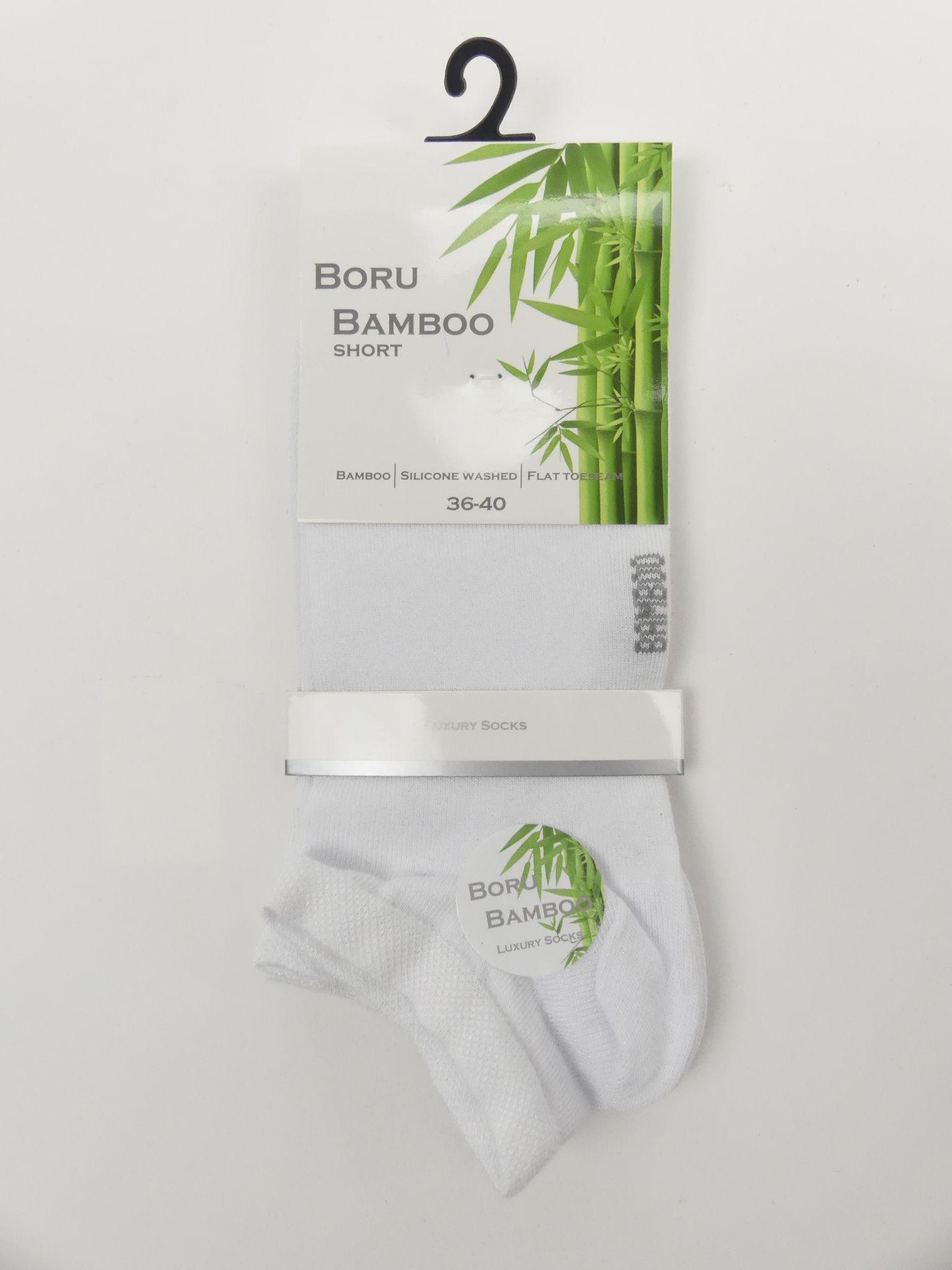 Witte bamboe enkelsokken dames