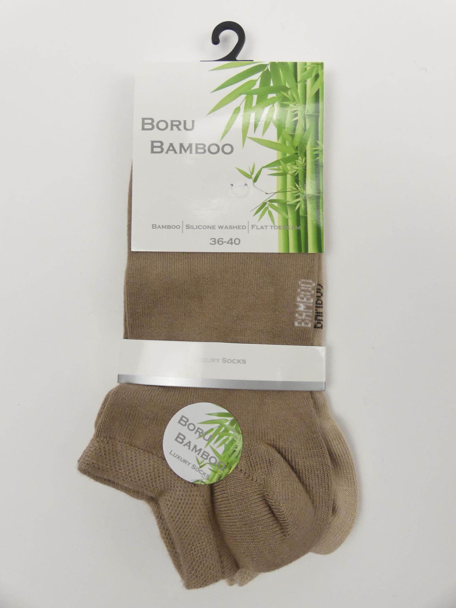 Bamboe enkelsokken dames