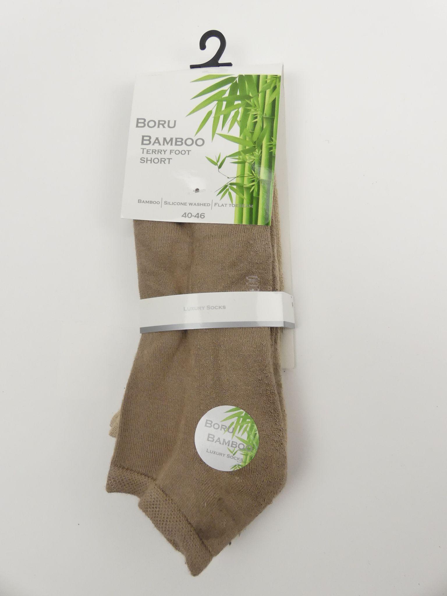 Bamboe enkelsok heren badstof
