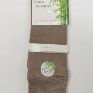 Heren sokken bamboe donker beige