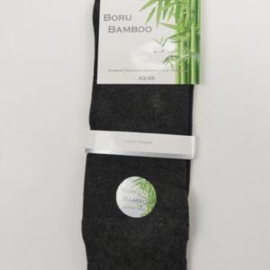 Bamboe sokken heren badstof grijs